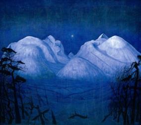 """Bild von Harald Sohlberg """"Winternacht in Rondane"""""""